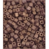 Square Beads 3.4x3.4mm Round Hole Golden Luster Matte